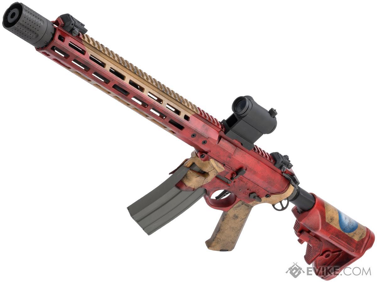 EMG / Sharps Bros Overthrow Advanced M4 Airsoft AEG Training Rifle w/ Black Sheep Arms Custom Cerakote (Model: 16 RECCE / Stark Industries)