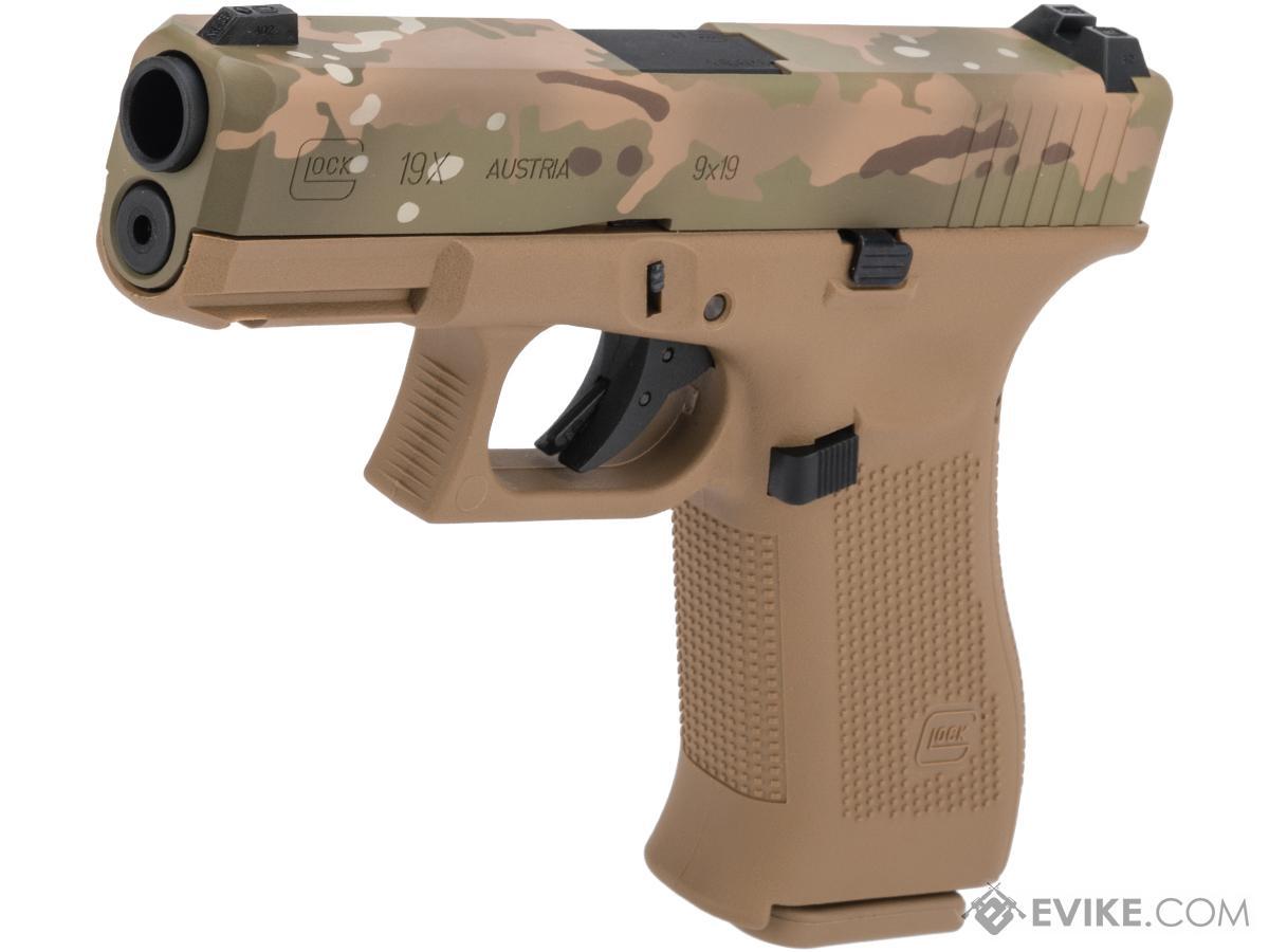 Elite Force Fully Licensed GLOCK 19X Gas Blowback Airsoft Pistol w/ Black Sheep Arms Custom Cerakote (Color: Multicam Slide)