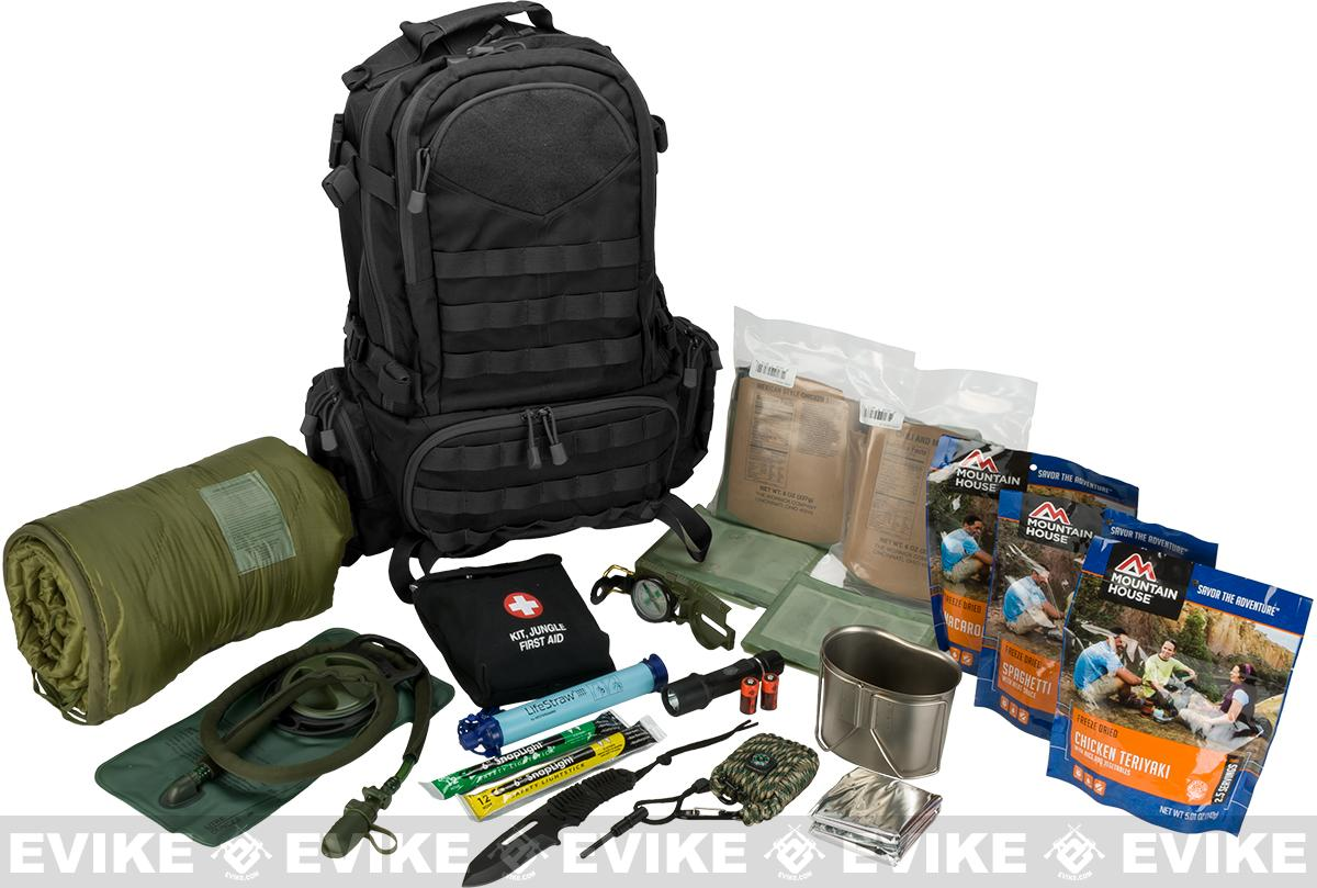 Evike.com Bug Out Bag / Survival Essentials - 72 Hour Bag (Color: Black)