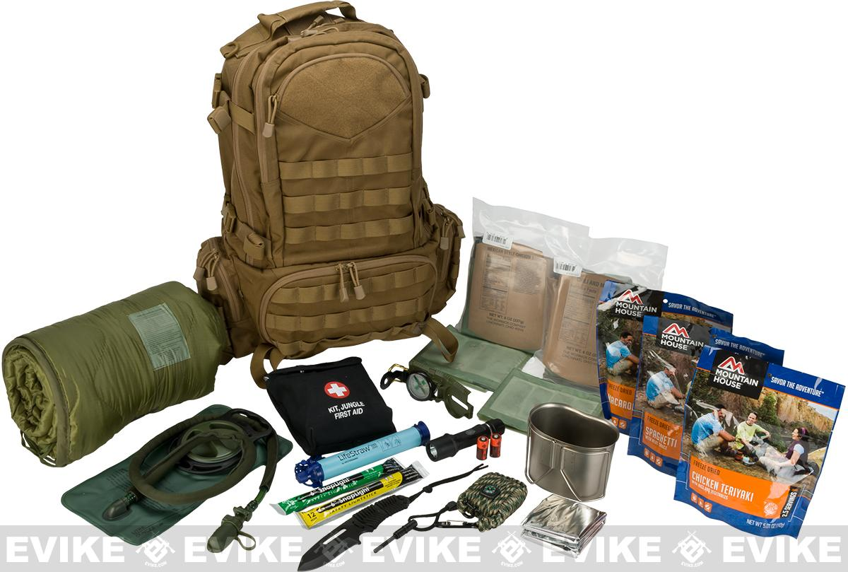 Evike.com Bug Out Bag / Survival Essentials - 72 Hour Bag (Color: Tan)