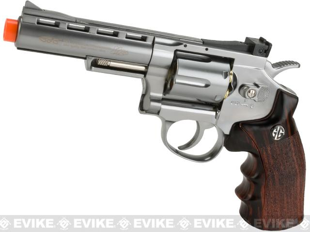 Pre-Order ETA September 2019 G&G G732 CO2 Full Metal  High Power Airsoft 6mm Magnum Gas Revolver (Length: 4 / Silver)