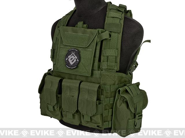 Lancer Tactical CA307 Modular Chest Rig - OD Green