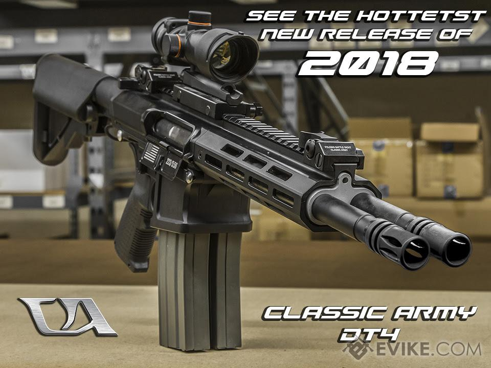 classic army dt 4 double barrel m4 carbine airsoft aeg rifle