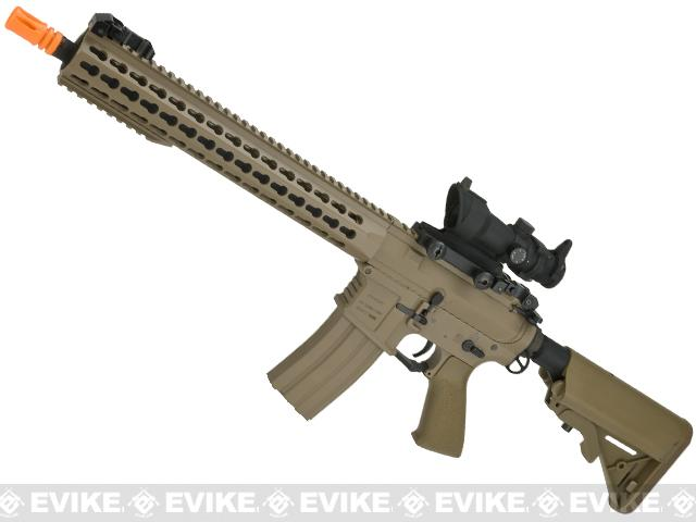 Classic Army Full Metal M4 Airsoft AEG Rifle with 13 KeyMod Handguard (Color: Dark Earth)