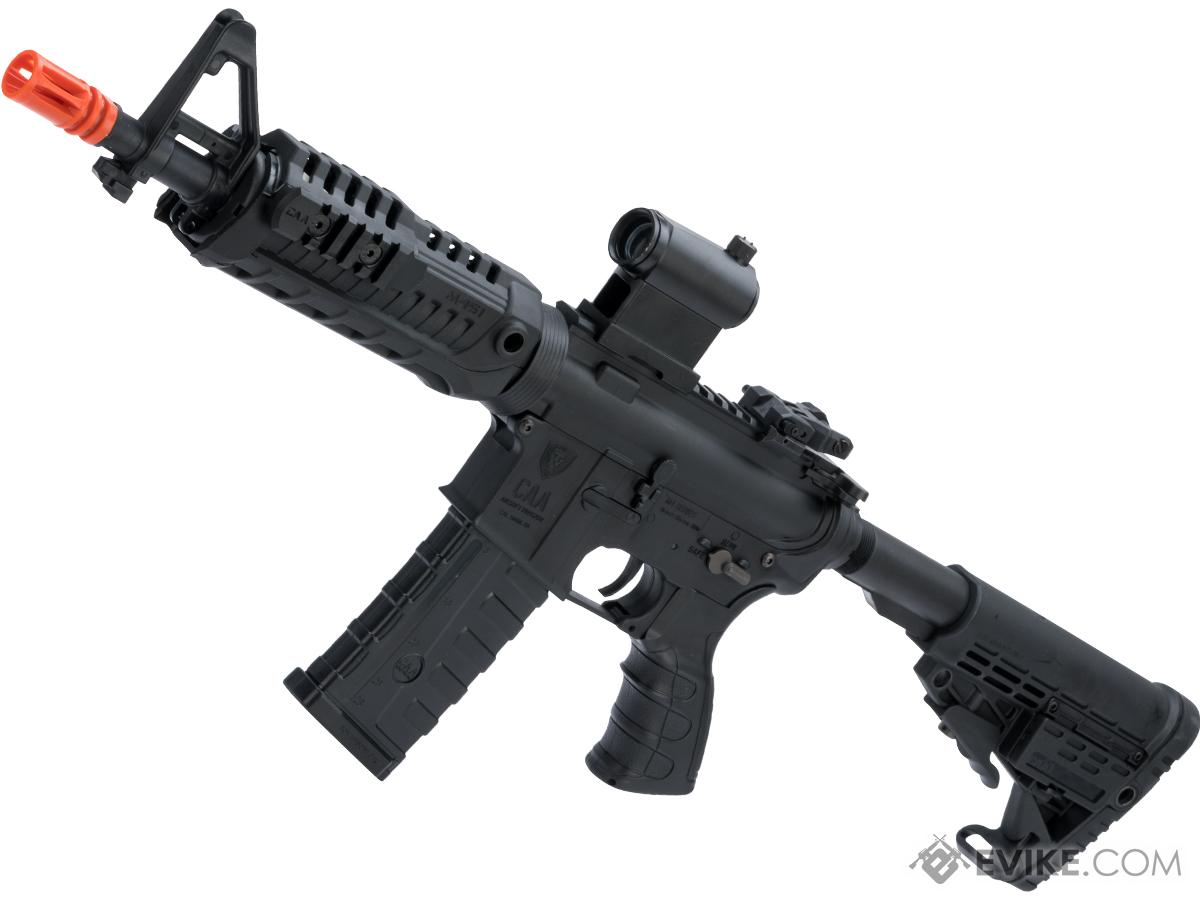 CAA Licensed M4 Airsoft AEG Rifle by King Arms (Model: CQB / Black)