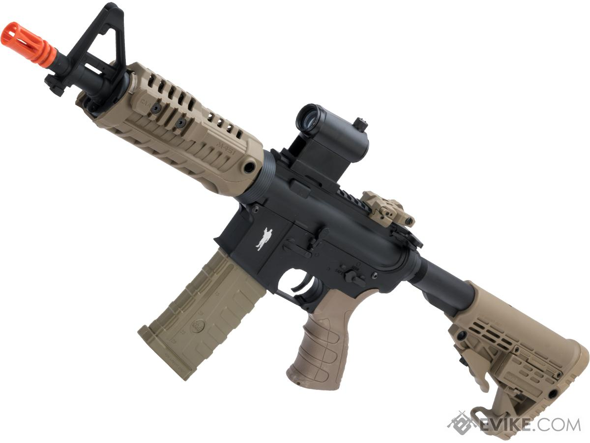 CAA Licensed M4 Airsoft AEG Rifle by King Arms (Model: CQB / Dark Earth)