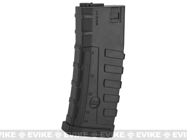 Command Arms CAA Licensed Magazine for M4 M16 AEG by King Arms (Type: 140rd Mid-Cap / Black / Single Magazine)