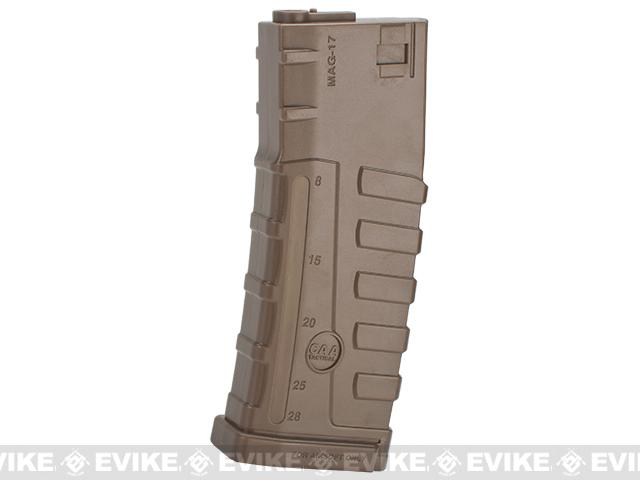 Command Arms CAA Licensed 140rd Mid-Cap Magazine for M4 M16 AEG by King Arms - Dark Earth (Single)