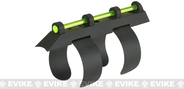 Green Fiber Optic Tactical Front Sight for APS CAM 870 Series Airsoft CO2 Powered Shotguns (Color: Green Insert)