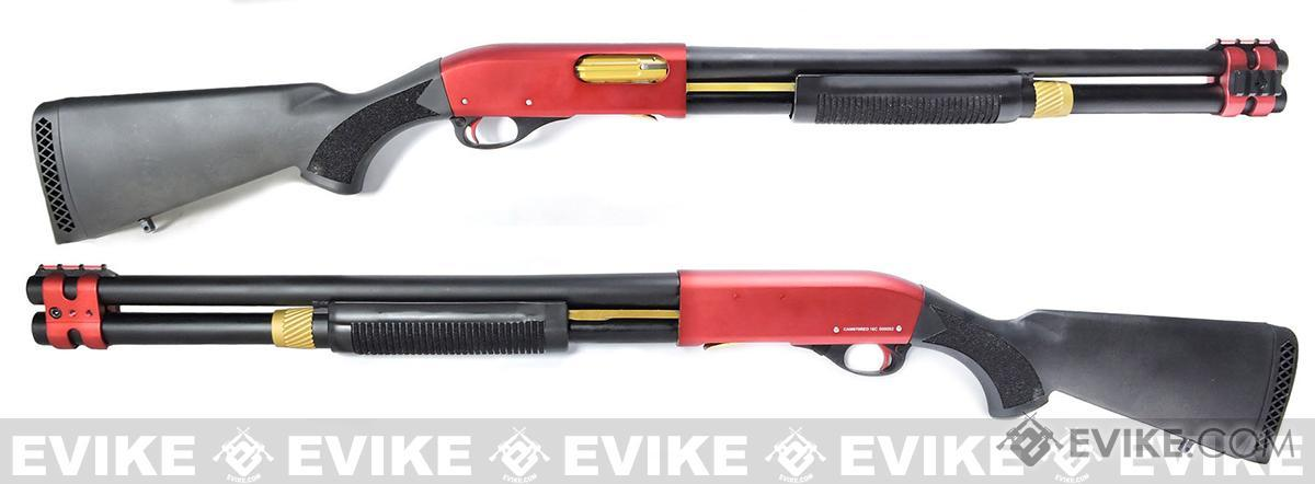 APS CAM870 Shell Ejecting Tactical Pump Action Gas Airsoft MKII Shotgun (Model: Red Limited Edition)