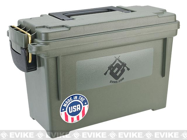 Evike.com Made in USA Molded Polypropylene Stackable Ammo Can by Plano (Size: 11.625 x 5.125 x 7.125)