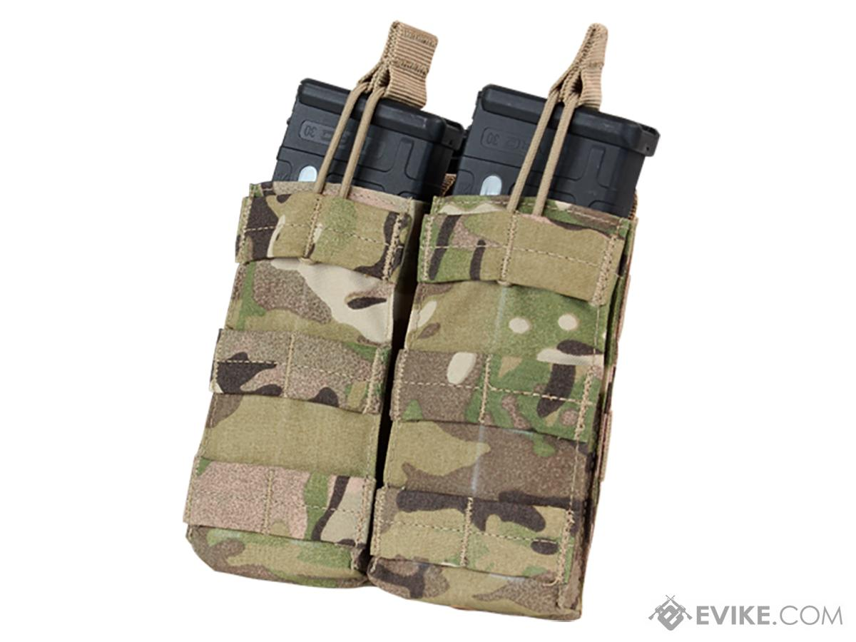 Condor Tactical Open Top Double AR15 / M4 / M16 / 5.56 NATO Magazine Pouch (Color: Multicam)