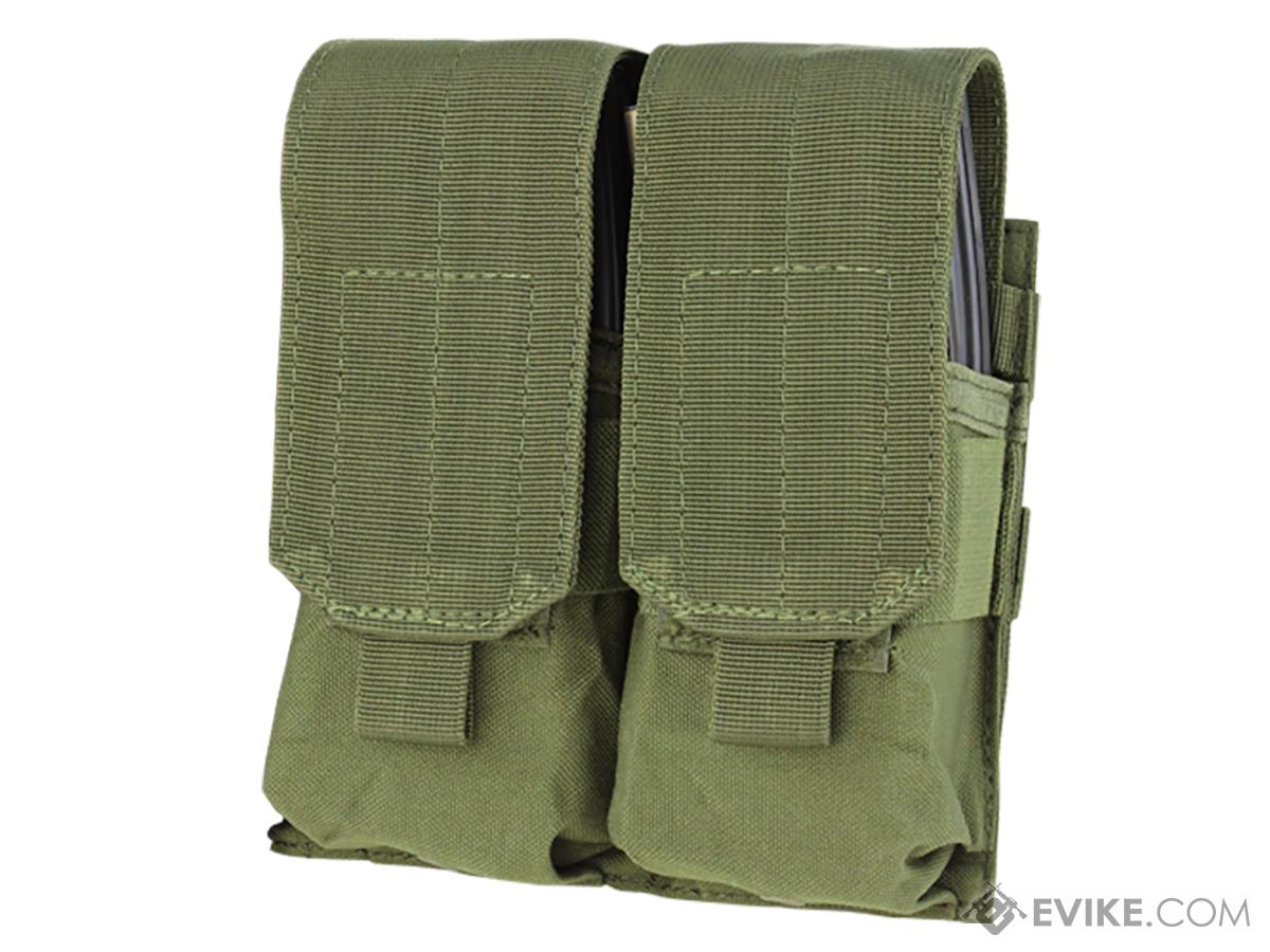 Condor Modular MOLLE Ready Tactical Double M4 M16 Magazine Pouch - OD Green