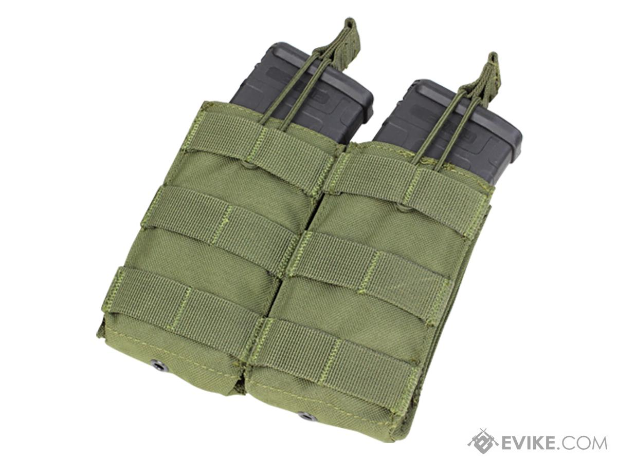 Condor Tactical Open Top Double AR15 / M4 / M16 / 5.56 NATO Magazine Pouch (Color: OD Green)