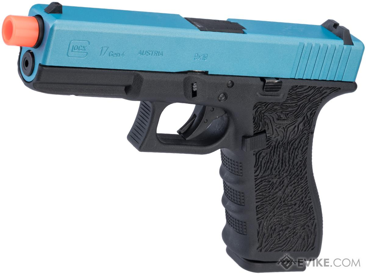 Elite Force Fully Licensed GLOCK 17 Gen.4 Gas Blowback Airsoft Pistol w/ Black Sheep Arms Custom Cerakote (Color: Blue Slide / Tiger Stippling)