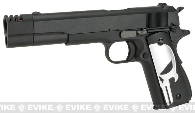 Pre-Order ETA July 2019 Evike.com Class I Custom Executioner WE-Tech 1911A1 Gas Blowback Airsoft Pistol with Compensator - Black
