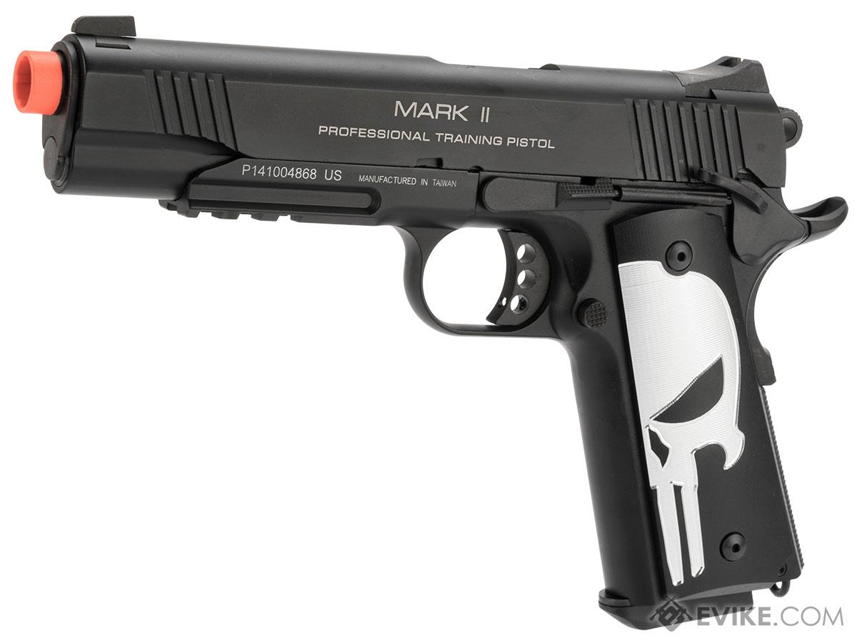 Evike.com KWA M1911 Butcher Angel Custom Enhanced Gas Blowback Airsoft Pistol (Model: MKII PTP)