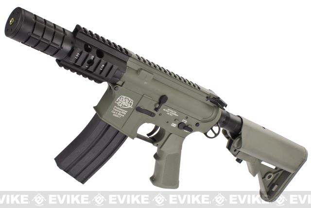 Evike Custom Class I G&P M4 Airsoft AEG Rifle - Patriot  (Package: Foliage Green / Add Battery + Charger)
