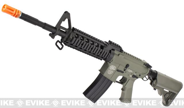 Evike Custom Class I G&P M4 Full Metal Airsoft AEG Rifle - RAS-II (Package: Foliage Green / Add Battery + Charger)