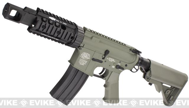 Evike Custom Class I G&P M4 Airsoft AEG Rifle - TANK (Package: Foliage Green / Add Battery + Charger)