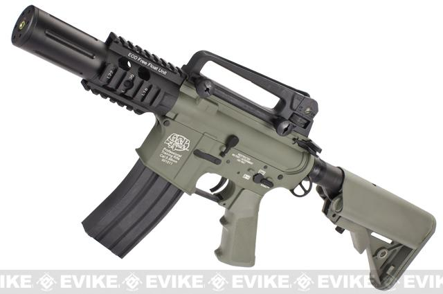 Evike Custom Class I G&P M4 Airsoft AEG Rifle - Fighting Cat  (Package: Foliage Green / Add Battery + Charger)
