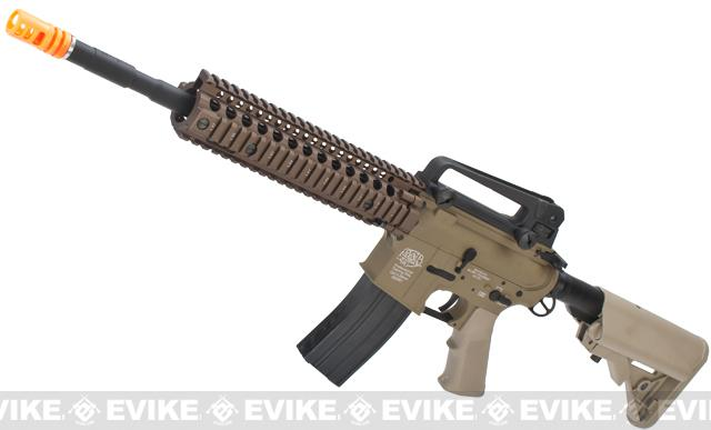 Evike Custom Class I G&P M4 Airsoft AEG Rifle - DD Mk18 RIS-II / Tan (Package: Gun Only)