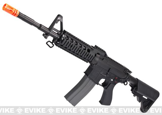 Evike Class I Custom G&G Full Metal M4 RASII Airsoft AEG Rifle w/ Crane Stock - Black (Package: Gun Only)
