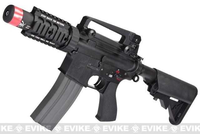 Evike Class I Custom G&G Full Metal M4 Stubby Killer Airsoft AEG Rifle w/ Crane Stock (Package: Black / Add 9.6 Butterfly Battery + Smart Charger)