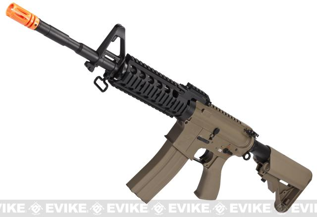Pre-Order ETA June 2018 Evike Custom Class I G&G Full Metal M4 RASII Airsoft AEG Rifle w/ Crane Stock - Tan