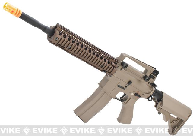 Evike Class I Custom G&G Full Metal M4 Airsoft AEG Rifle w/ Crane Stock - DD Mk18 RIS-II / Tan (Package: Gun Only)