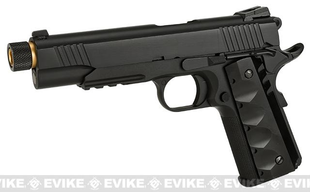 Evike Custom Class I Angel of Death Full Metal Airsoft Gas 1911 Pistol - Black (3 Magazines)