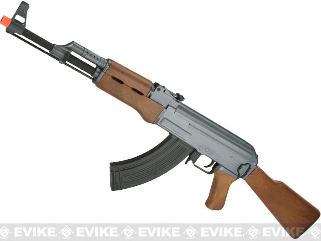 CYMA Latest Edition CM028 Airsoft AK47 AEG Rifle - Simulated Wood Furniture (Package: Gun Only)