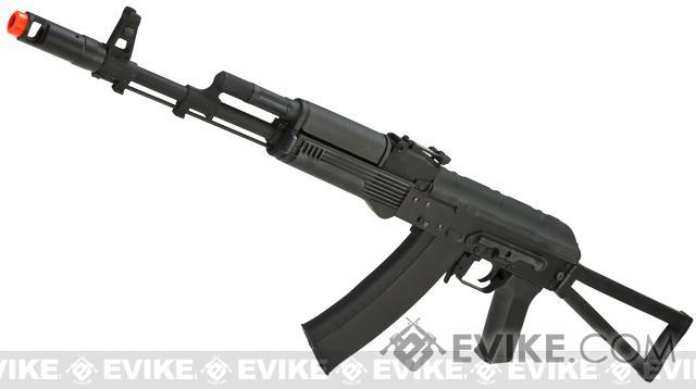 CYMA Stamped Metal AK74 w/ Folding Stock Airsoft AEG Rifle - (Package: Add Battery + Charger)