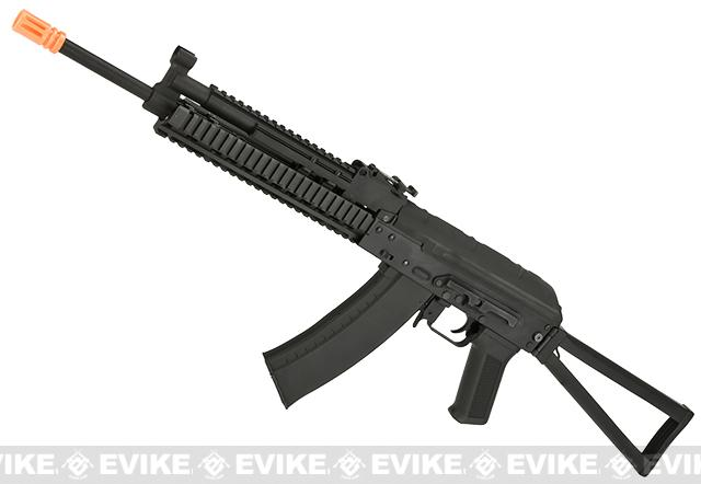 CYMA Stamped Metal AK-74 KTR RIS w/ Folding Stock Airsoft AEG Rifle - (Package: Add Battery + Charger)