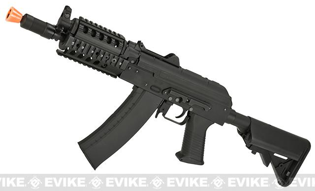 CYMA AKS-74UN RAS w/ M4 Crane Stock Airsoft AEG Rifle - (Package: Gun Only)