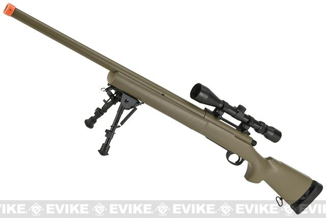 CYMA Advanced M24 Military Airsoft Bolt Action US Army Scout Sniper Rifle (Color: Tan / Standard Barrel / Rifle Only)