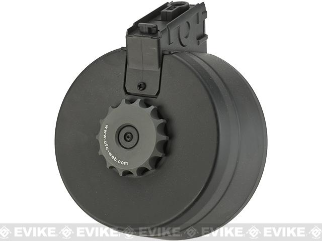 A&K 3000rd Auto Winding & Sound Control Drum Magazine for G3 Series Airsoft AEG