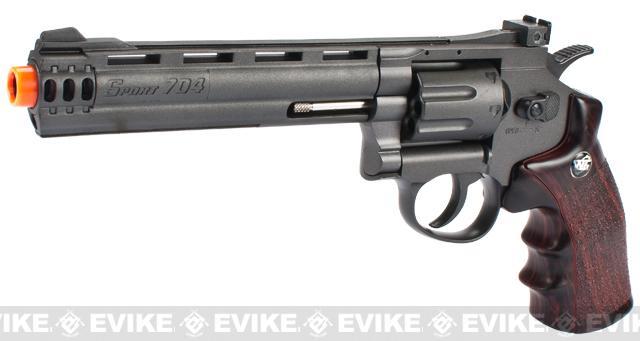 WinGun 6 High Power Airsoft CO2 Revolver w/ 8rd Clip - Black