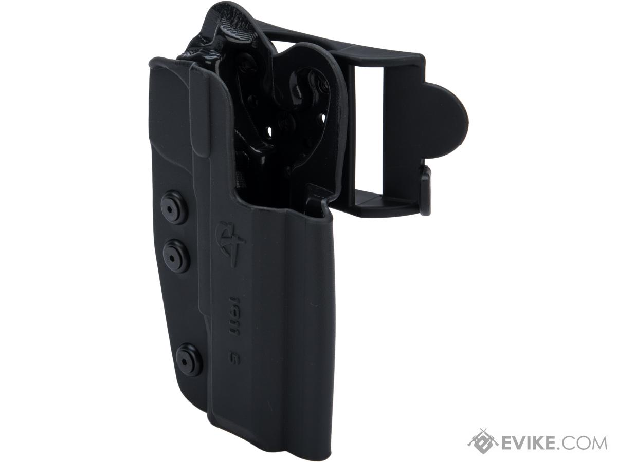 Comp-Tac International OWB Kydex w/ Modular Mounting System (Model: 1911 - 5 / Right Hand / Black)