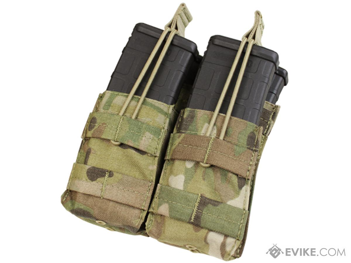 Condor Tactical Open Top Double Stacker AR15 / M4 / M16 / 5.56 NATO Magazine Pouch (Color: Multicam)
