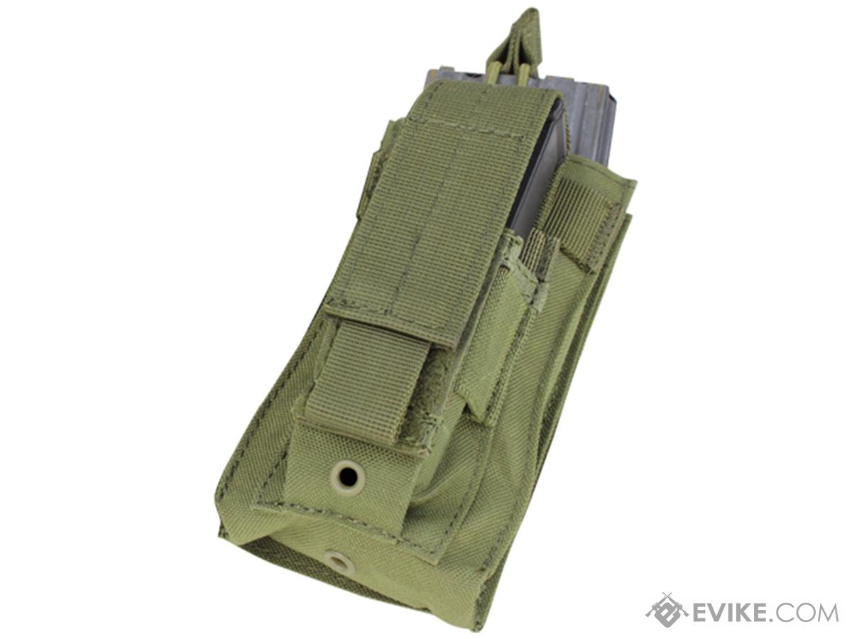 Condor MOLLE Kangaroo M16/M14 Magazine and Pistol Magazine Pouch (Color: OD Green)