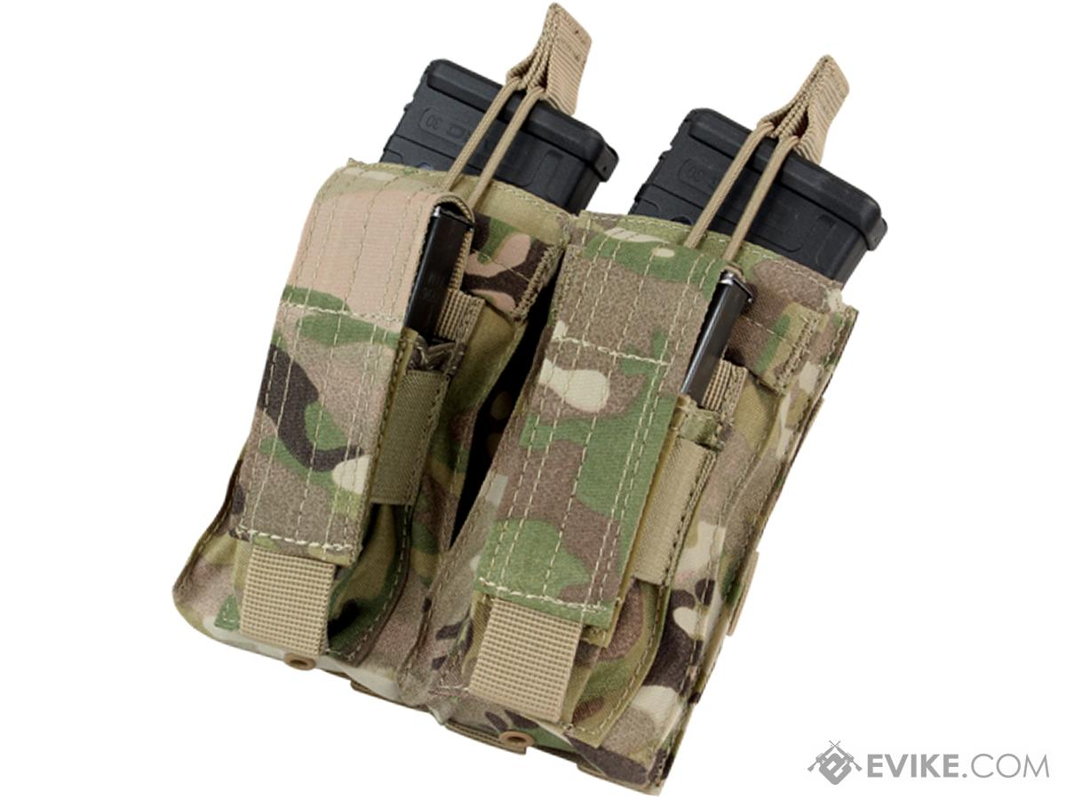 Condor MOLLE Double Kangaroo M16 & Pistol Mag Pouch (Color: Multicam)
