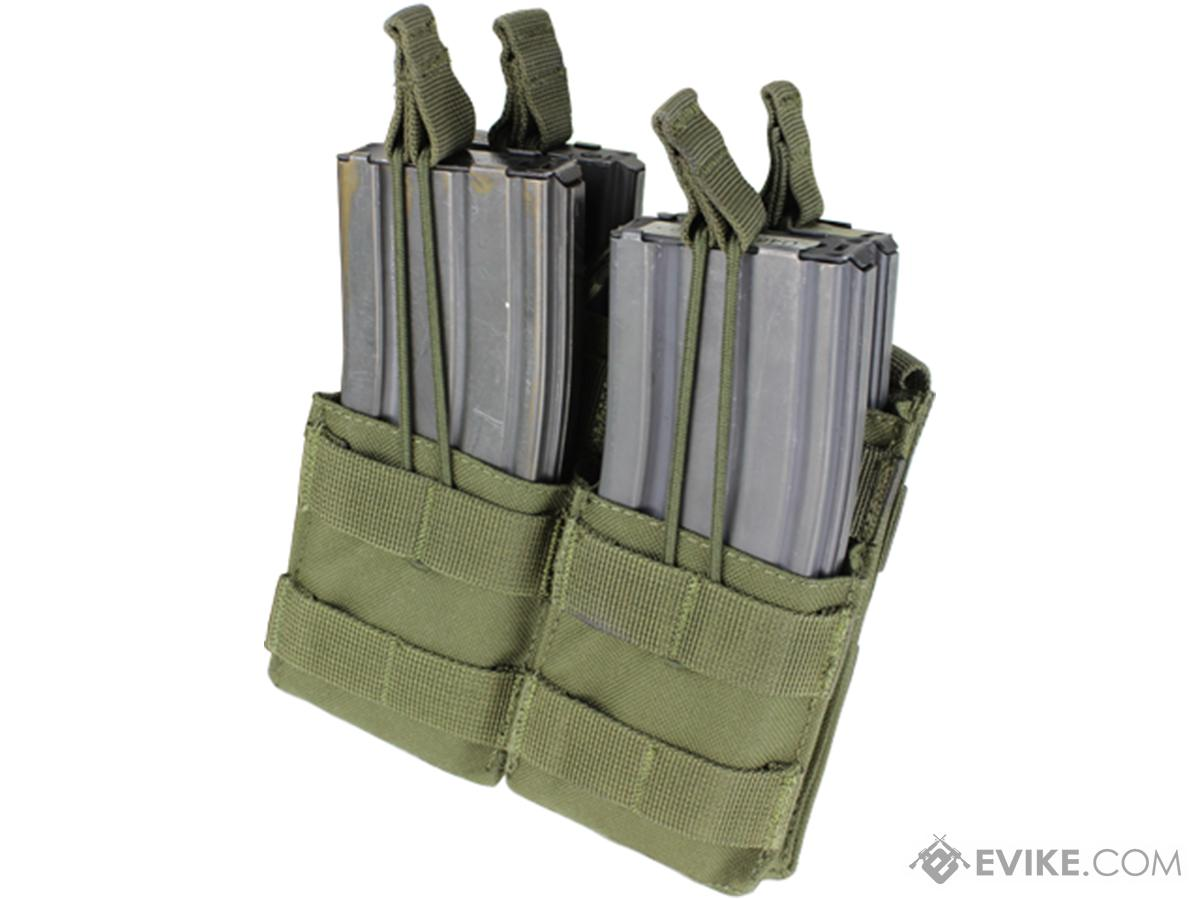Condor Tactical Open Top Double Stacker AR15 / M4 / M16 / 5.56 NATO Magazine Pouch (Color: OD Green)