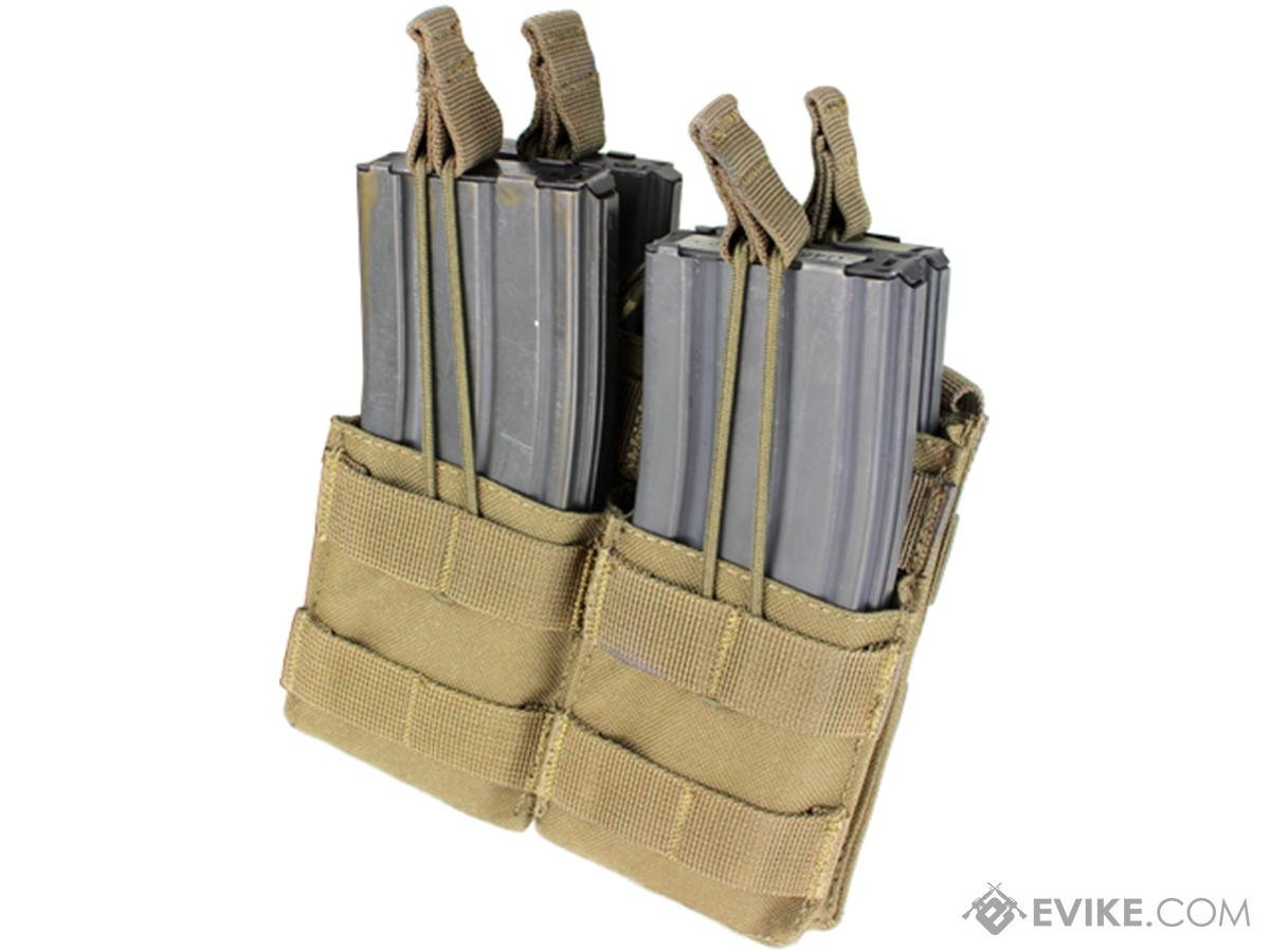 Condor Tactical Open Top Double Stacker AR15 / M4 / M16 / 5.56 NATO Magazine Pouch (Color: Tan)