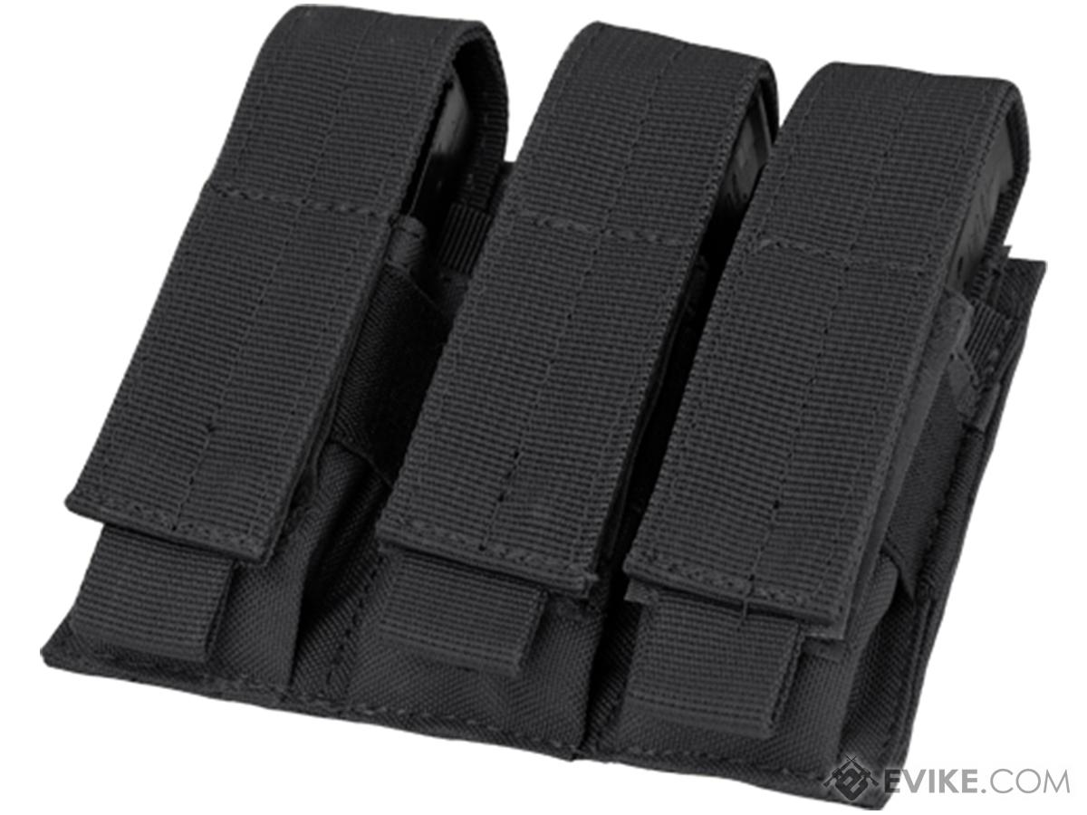 Condor MOLLE Triple Pistol Magazine Pouch (Color: Black)