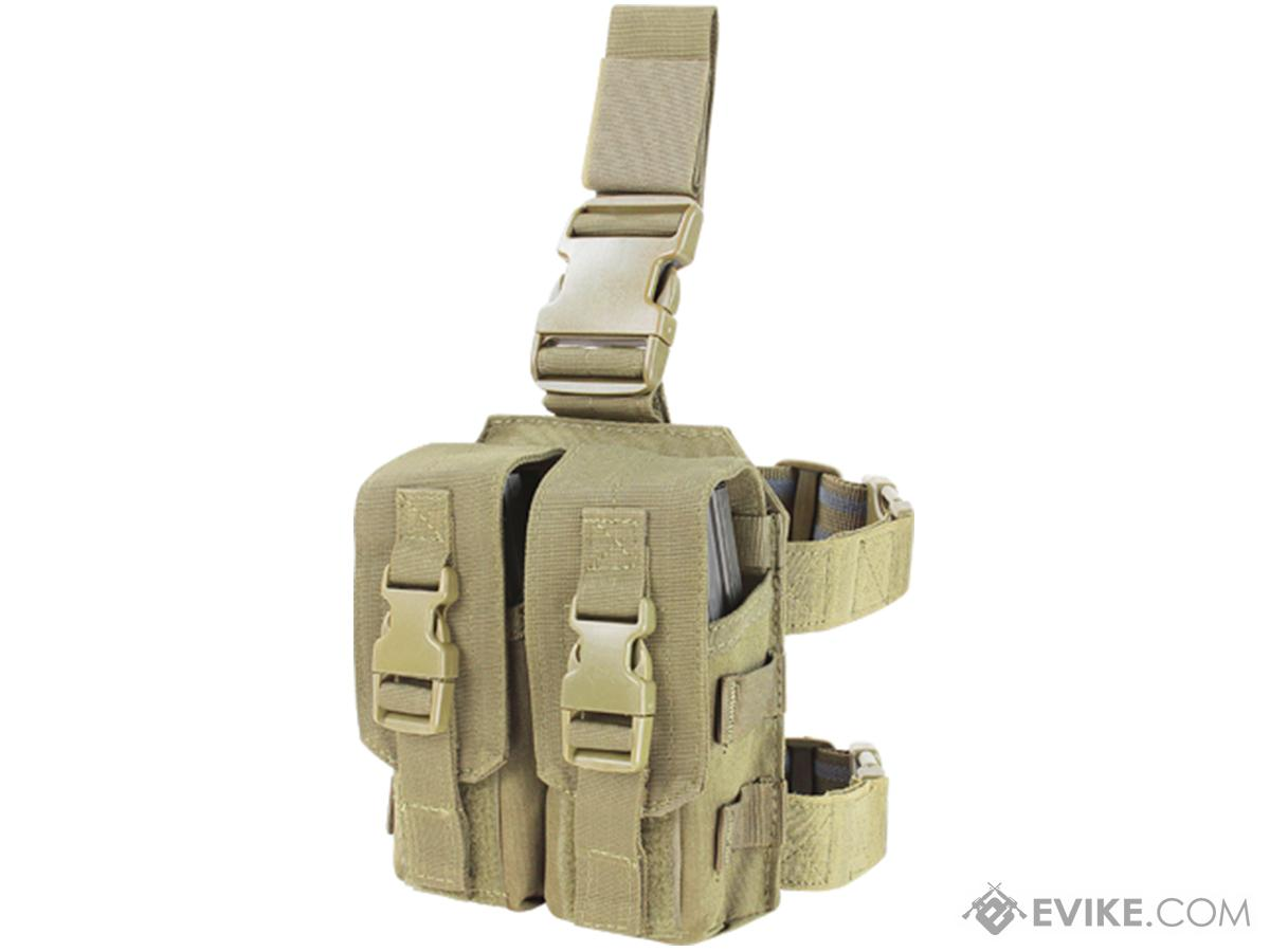 Condor Drop Leg M4 Mag Pouch (Color: Tan)