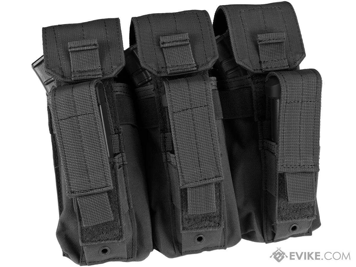 Condor Triple AK Kangaroo Magazine Pouch (Color: Black)