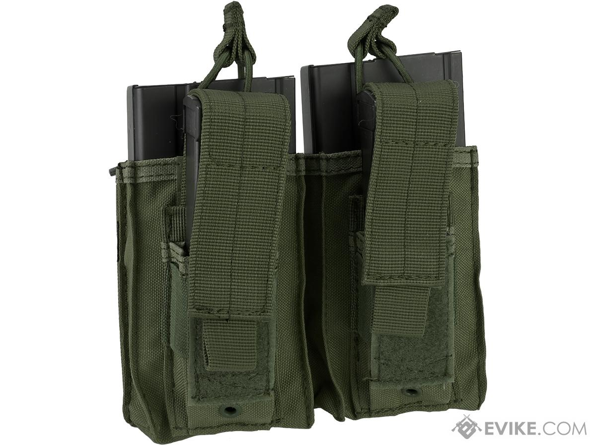 Condor MOLLE Double Kangaroo M14 & Pistol Mag Pouch (Color: OD Green)