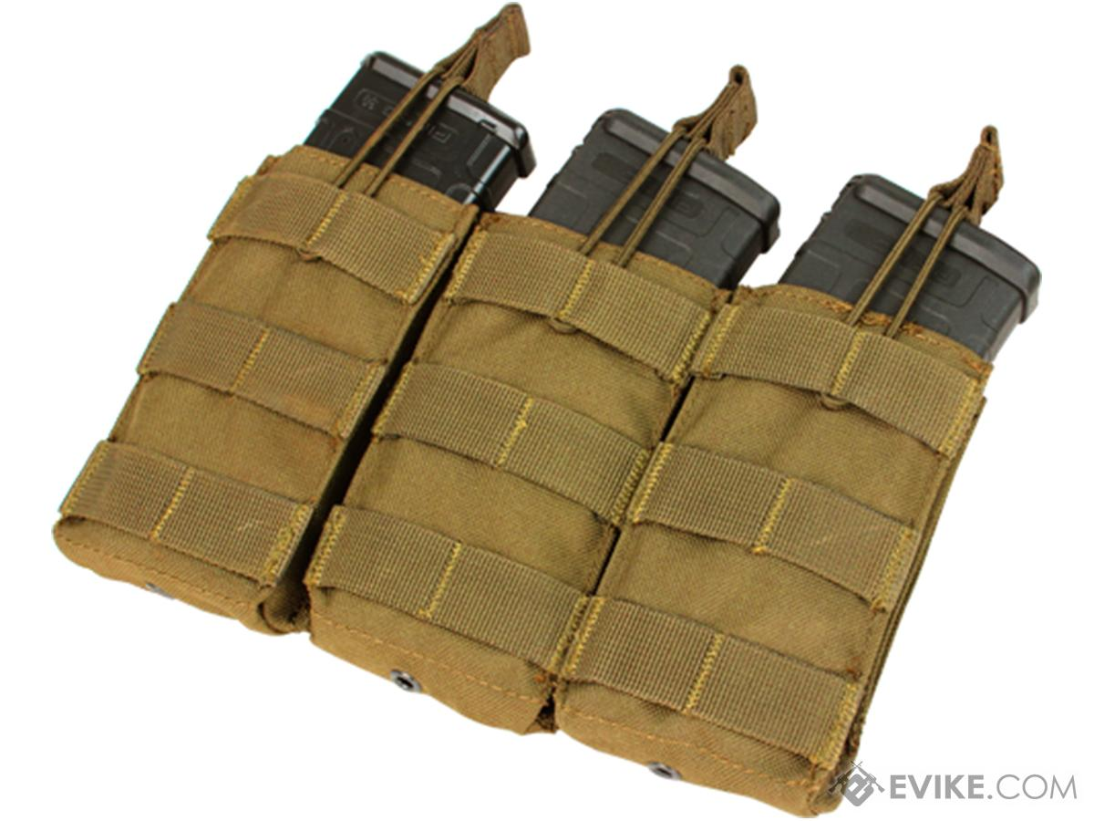 Condor Tactical Open Top Triple AR15 / M4 / M16 / 5.56 NATO Magazine Pouch (Color: Coyote Brown)