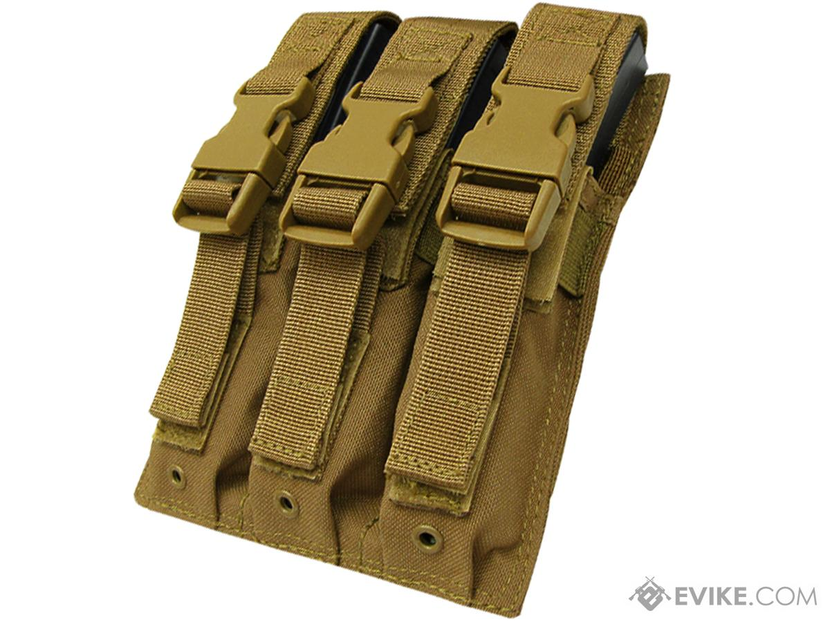 Condor Tactical Triple MP5 / SMG Magazine Pouch (Color: Coyote Brown)